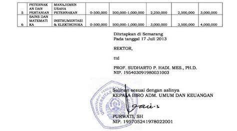 biaya kuliah universitas diponegoro undip semarang