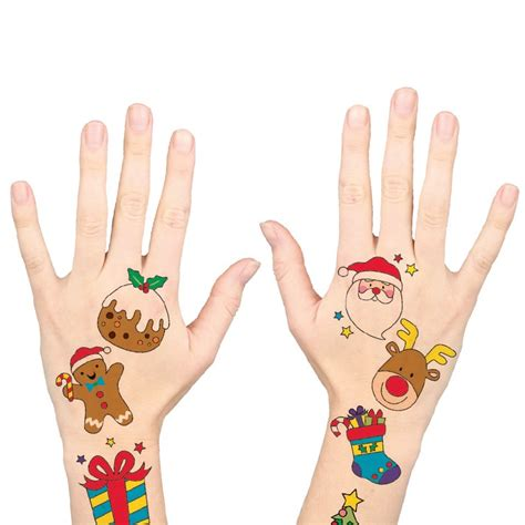 temporary xmas tattoos temporary tattoos cleverpatch
