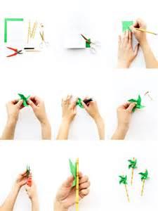 diy palm tree pinwheel straws