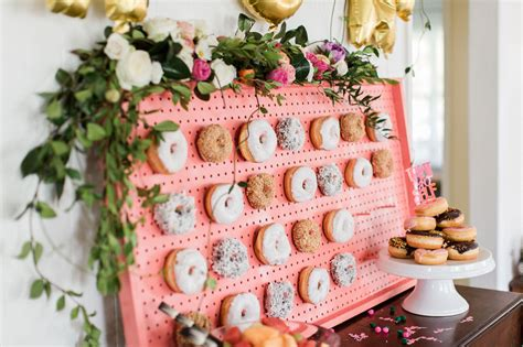 for bridal showers tropical inspired bridal shower with a donut wall green wedding shoes weddings fashion