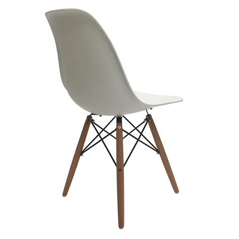 Molded Plastic Dining Chairs Set Of 4 Eiffel Molded Plastic Side Dining Chairs Eames Dsw Replica White Ebay