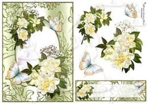 gardenia garden decoupage card front