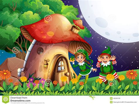 elf house elf and house stock vector image of scene outdoors 46036109