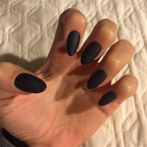 matte pointed nails black matte almond nails nails sun my