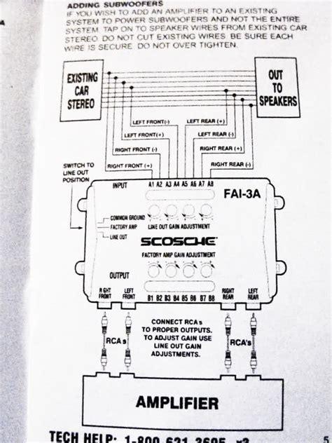 scosche line out converter wiring diagram wiring wiring