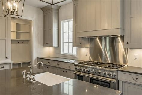 shiplap kitchen hood gray shiplap kitchen hood with stainless steel cooktop