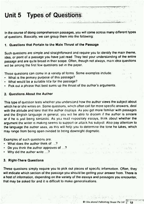 reading comprehension test business english english comprehension skills question types