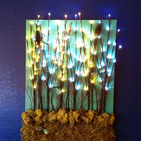 lighted canvas lighted canvas tree hugger