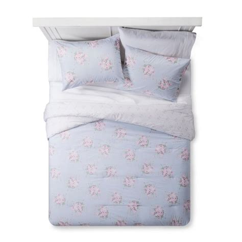 Simply Shabby Chic Bedding Blue by Blue Floral Comforter Sham Set Simply Shabby