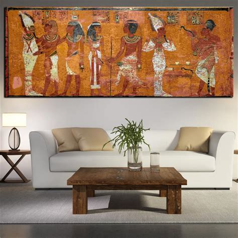 wall art living room egyptian decor canvas painting oil painting wall pictures