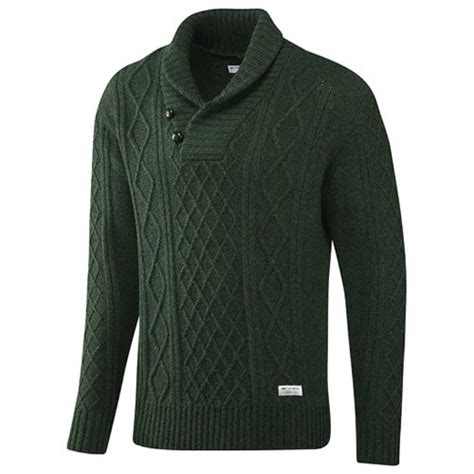 Original Sweater Abu adidas originals mens shawl cable knit wool sweater forest green s buy in uae