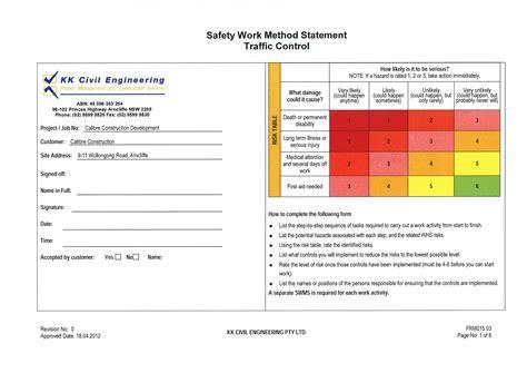 swms templates safe work method statement steelnconcretebutterfly