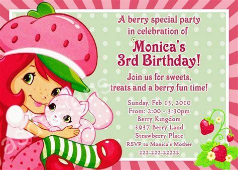 Strawberry Shortcake Birthday Party Invitations Printable Strawberry Shortcake Invitation Template Free