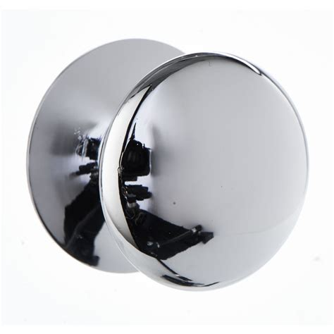 wilko door knob chrome button 32mm at wilko