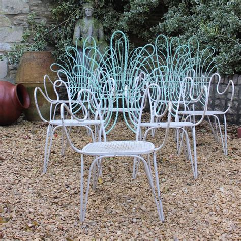 italian patio furniture great set of 8 circa 1940s italian garden chairs furniture