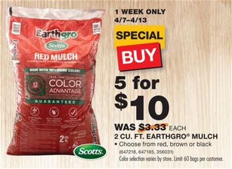 home depot scott s earthgro mulch 2 a bag 4 7 4 13