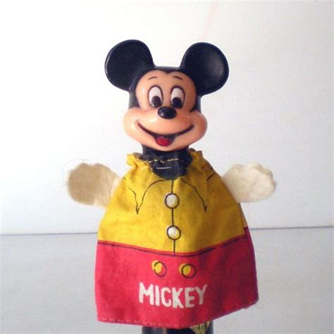 Boneka Tangan Puppets Disney Vintage vintage disney mickey mouse finger puppet from californiagirls on ruby