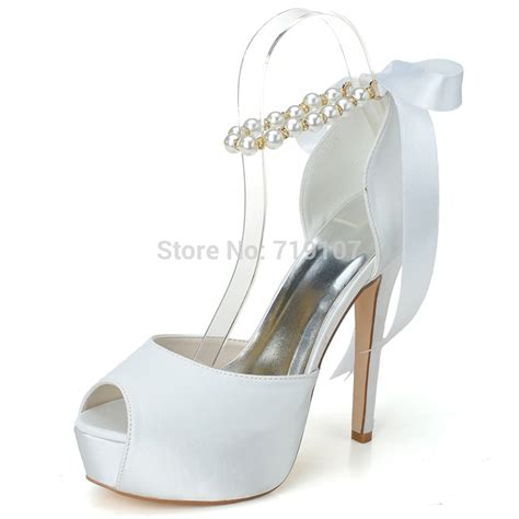 Wedding Shoes With Pearls by New Arrival Open Toe High Heels With Pearls Beading