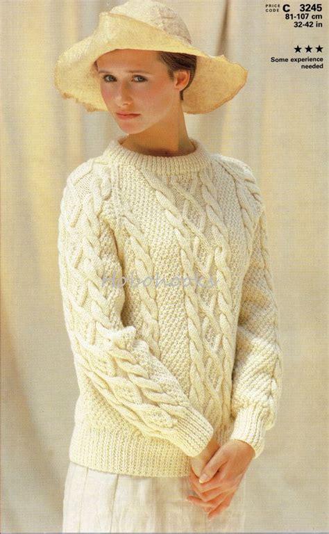 womens jumper knitting patterns free 25 best ideas about aran sweaters on aran