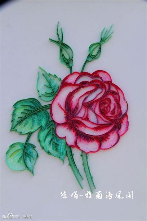 Paper Quilling Roses - beautiful quilling flowers paper fabric etc