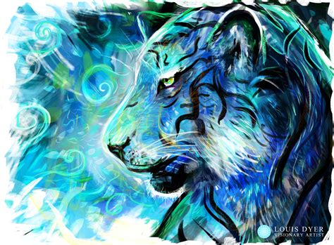 Blue Tiger project blue tiger louis dyer digital visionary artist
