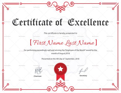 corporate certificate template excellence corporate certificate design template in psd word