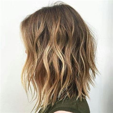 back view of texturized lob 2018 latest textured long haircuts