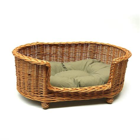 wicker dog bed luxury wicker pet bed basket settee by prestige wicker