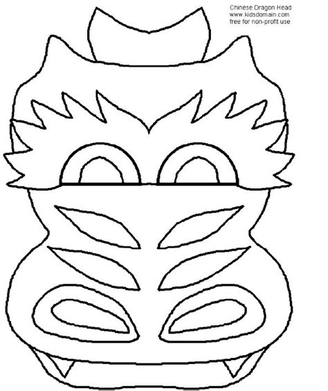 new year mask template mask template