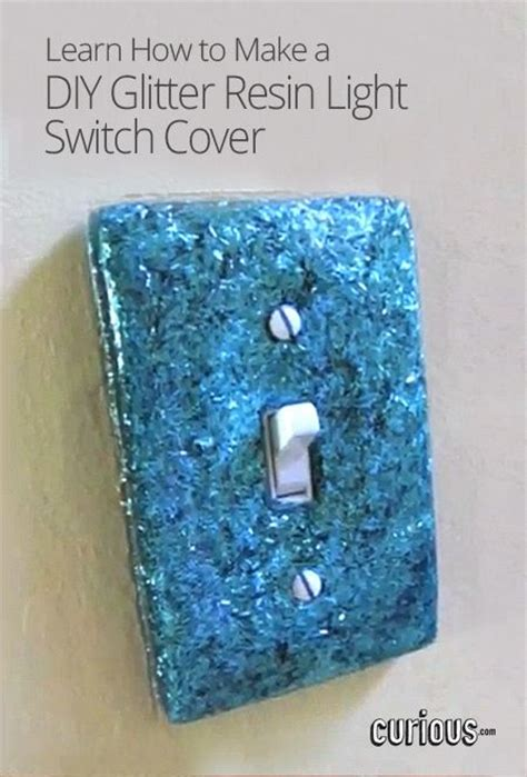diy light switch covers diy glitter resin light switch cover today s craft and