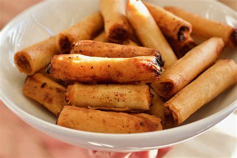 Tasty Dinner Party Recipes - lumpia shanghai filipino egg rolls mollie s kitchen