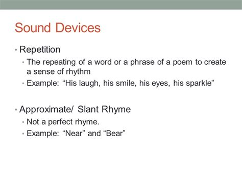 poetry terms mrs withers ppt