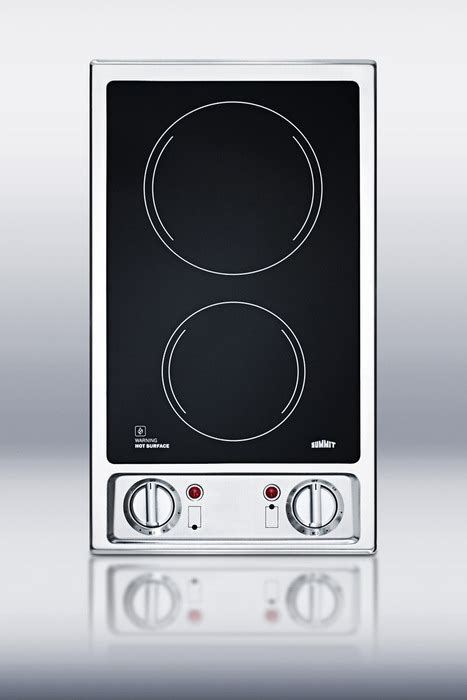 2 Burner Ceramic Cooktop buy summit cr2b120 two burner black ceramic glass 120 volt cooktop at appliancesbuyphone we