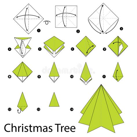 printable christmas tree origami step by step instructions how to make origami christmas