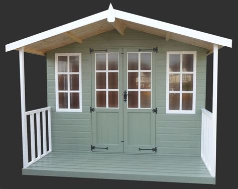 painted sheds painted green and white summerhouse shed house and home summer