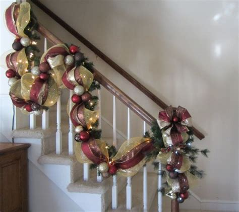 elegant lighted garland stairway garland post swag shipping included world mesh stair