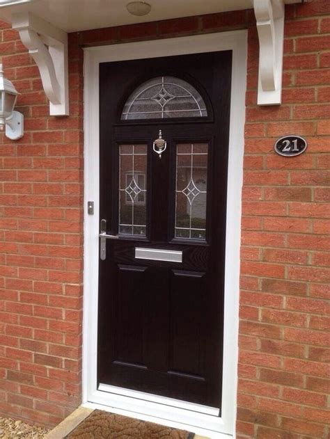 Upvc Front Door Panels Upvc Black Colour Composite Front Door Made To Measure Different Designs Https