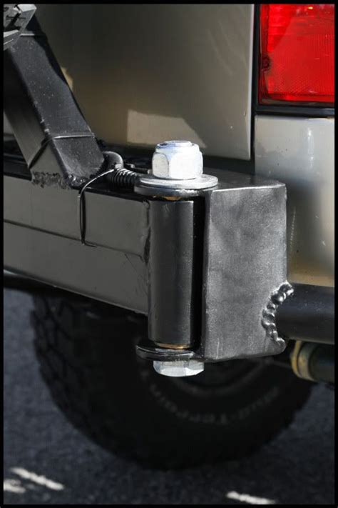 swing out tire carrier hinge tire carrier hinge ideas for rear bumper 4x4 pinterest