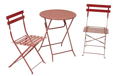 Cosco Folding Bistro Style Patio Table And 3 Set