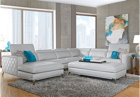 Sectional Sofas Rooms To Go Sofia Vergara Sorrento Platinum 5 Pc Sectional Living Room Living Room Sets Beige