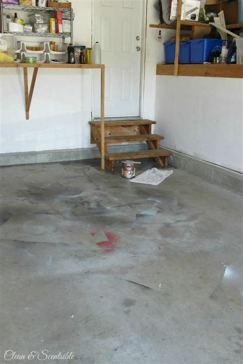 Garage Floor Moisture by How To Paint A Garage Floor Clean And Scentsible