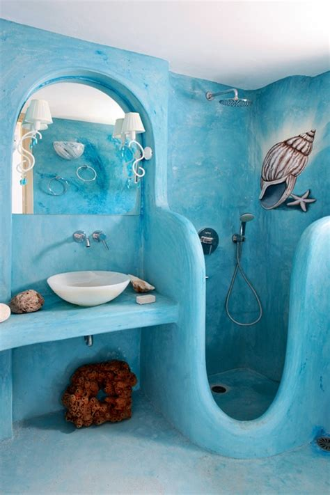blue bathroom ornaments funky beach bathroom decor gnewsinfo com
