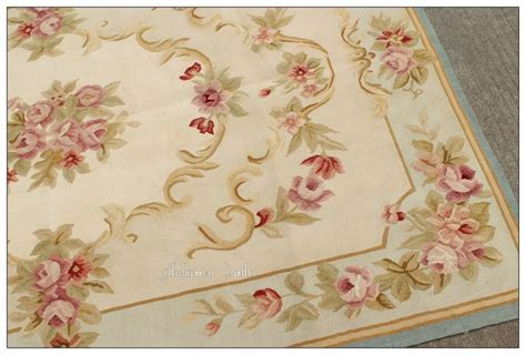 Shabby Chic Area Rug 4x6 Light Blue Aubusson Area Rug Shabby Pink Chic Roses Wool Woven Chic Rugs And