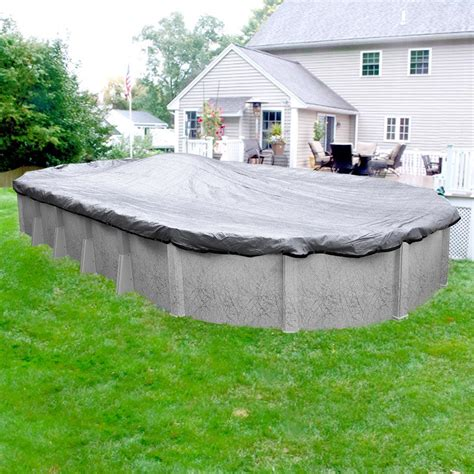 Century Silver 9ft Pool Pool Mate Mesh Xl 15 Ft X 27 Ft Pool Size Oval Silver Mesh Winter Above Ground Pool