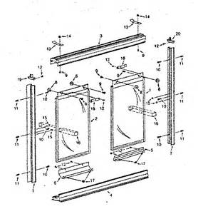 replacement shower door parts replacement parts 683520 diagram parts list for model
