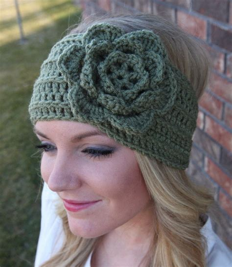 head wrap crochet pattern headband ear warmer crochet head wrap green a2