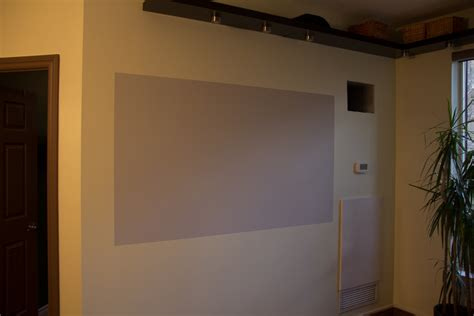 diy projector screen goo paint vs behr silver paint