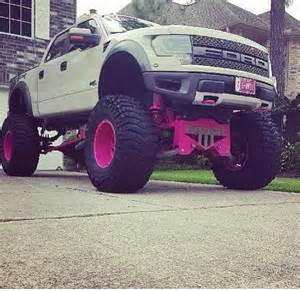 Pink Ford Raptor Pink Lifted Ford Raptor Machines