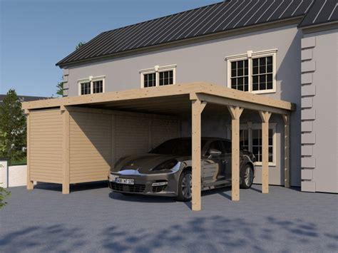 carport unter 200 carport flachdach avus xvii 600x600 cm mit ger 228 teraum