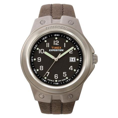 Expedition E6318 Black Leather s timex expedition 174 with leather silver